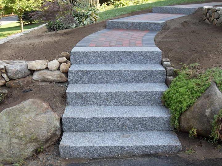Grijs granit trap