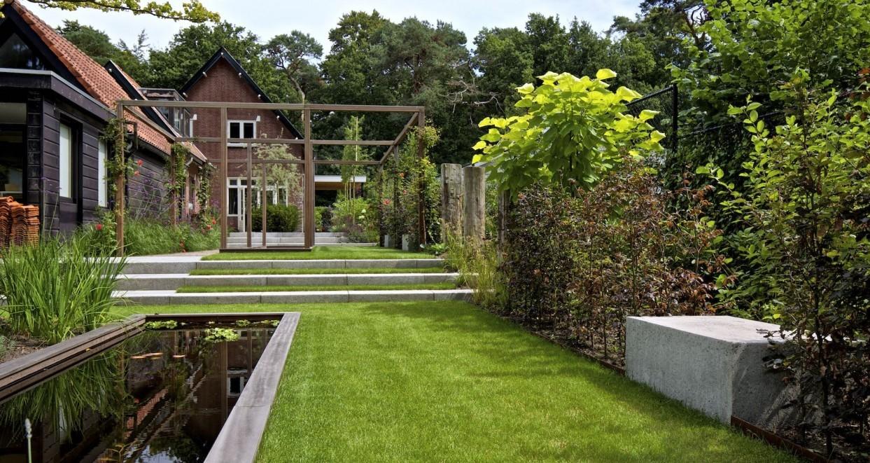 Tuin met hoogte verschillen (2)